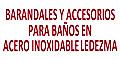 Acero Inoxidable-BARANDALES-Y-ACCESORIOS-PARA-BANOS-EN-ACERO-INOXIDABLE-LEDEZMA-en-Distrito Federal-encuentralos-en-Sección-Amarilla-PLA