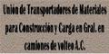 Materiales Para Construcción-UNION-DE-TRANSPORTADORES-DE-MATERIALES-PARA-CONSTRUCCION-Y-CARGA-EN-GRAL-DE-CAMIONES-DE-VOLTEO-AC-en-Veracruz-encuentralos-en-Sección-Amarilla-BRP