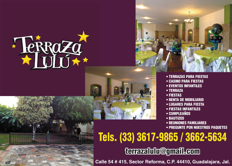 Terraza Lulu Salones Para Fiestas En Jalisco Guadalajara