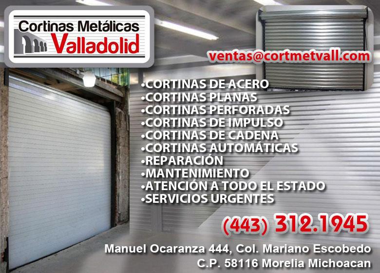 Cortinas Metálicas Valladolid Cortinas De Acero en Michoacan