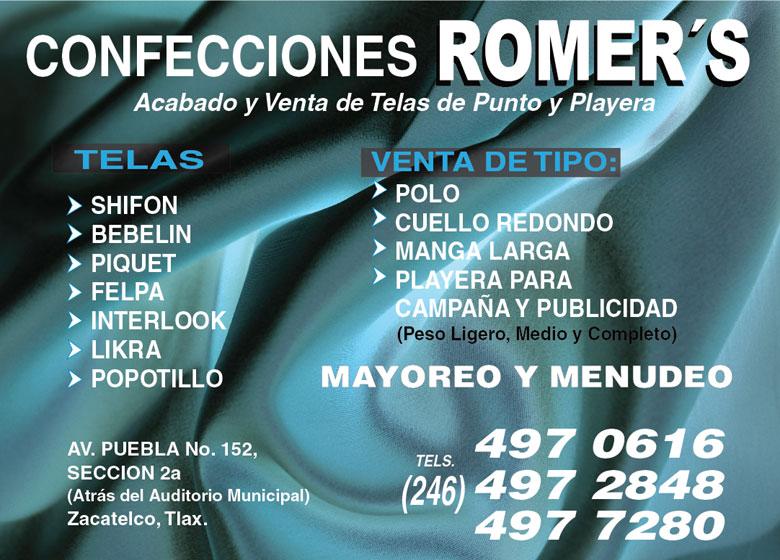 96ba4c829a6d7 Confecciones Romer s Telas Fábricas en Tlaxcala