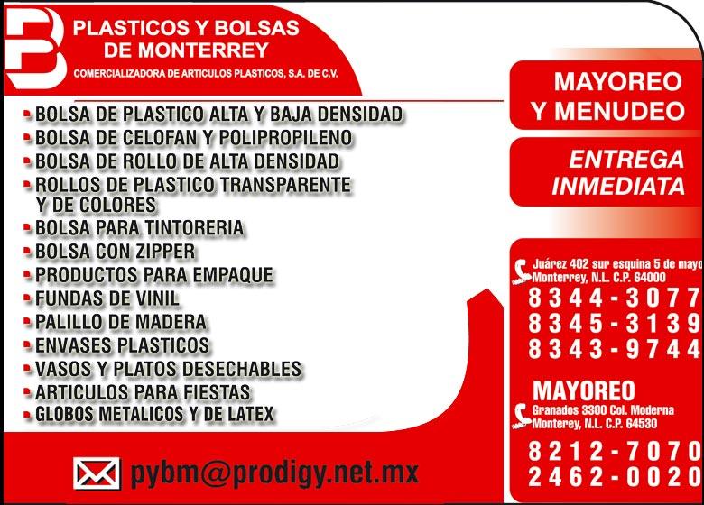 Plasticos Y Bolsas De Mty Come Bolsas De Polietileno Y Plást 86f12ffe8376f