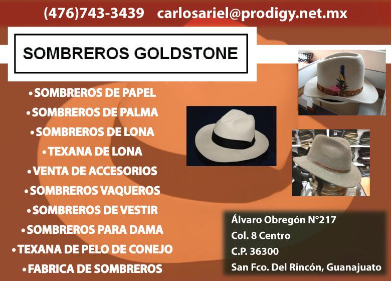 Sombreros Goldstone Sombreros en Guanajuato bf4db0380eb