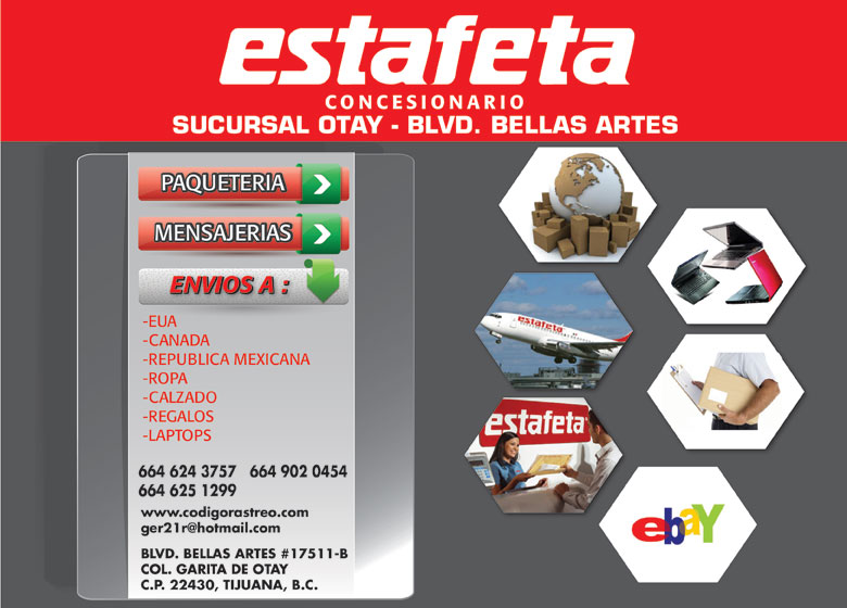 Estafeta Concesionario Otay Bellas Artes Paquetería Y Envíos
